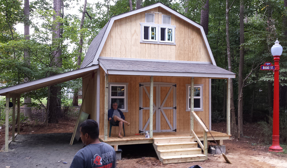Two story shed barn style