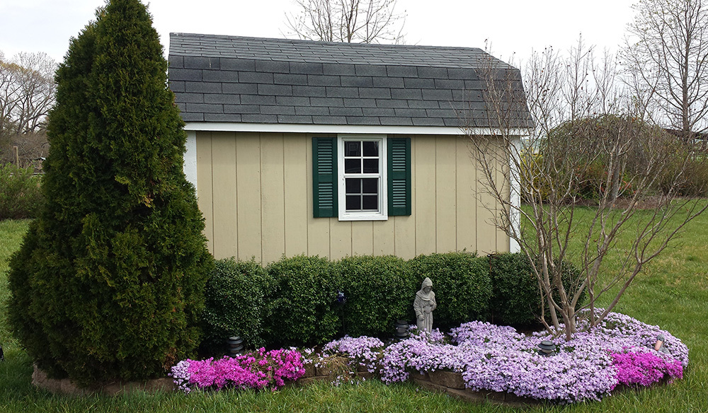 Standard style dutch barn shed twelve by fourteen