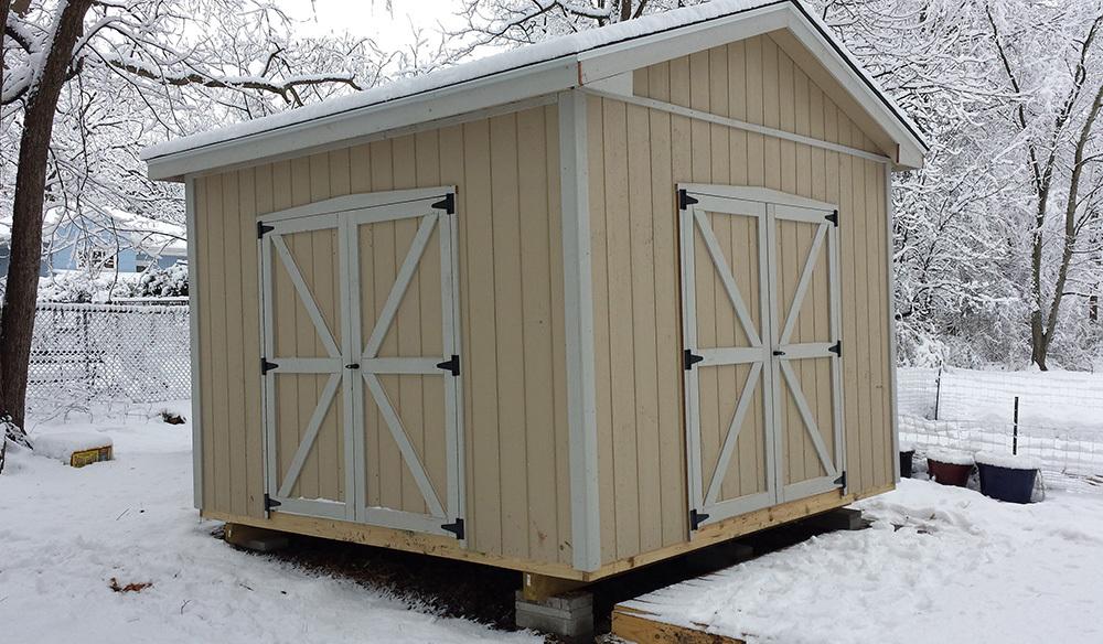 Custom high wall shed twelve by twelve