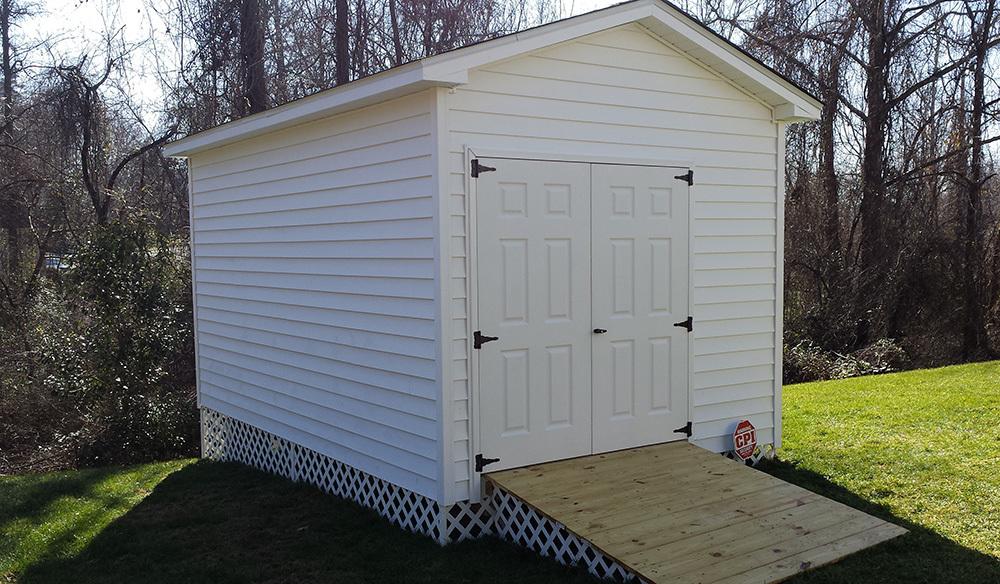 Fiberglass doors high wall shed