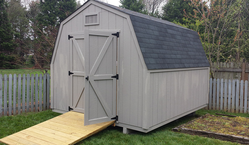Basic eight by ten shed barn style