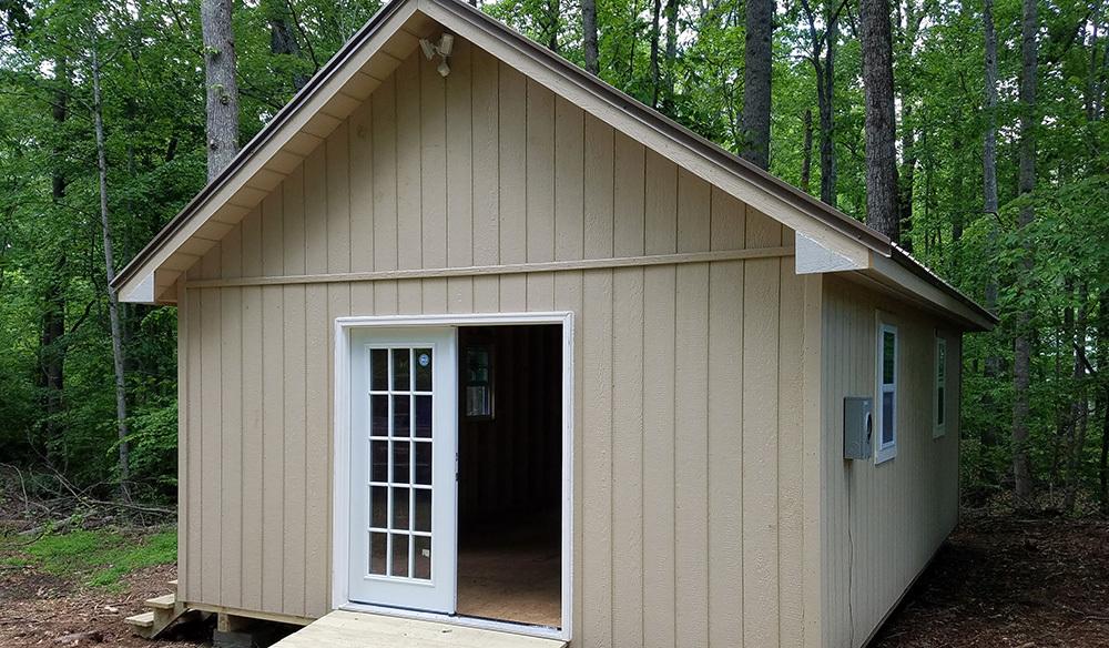 Custom sixteen by twenty four shed