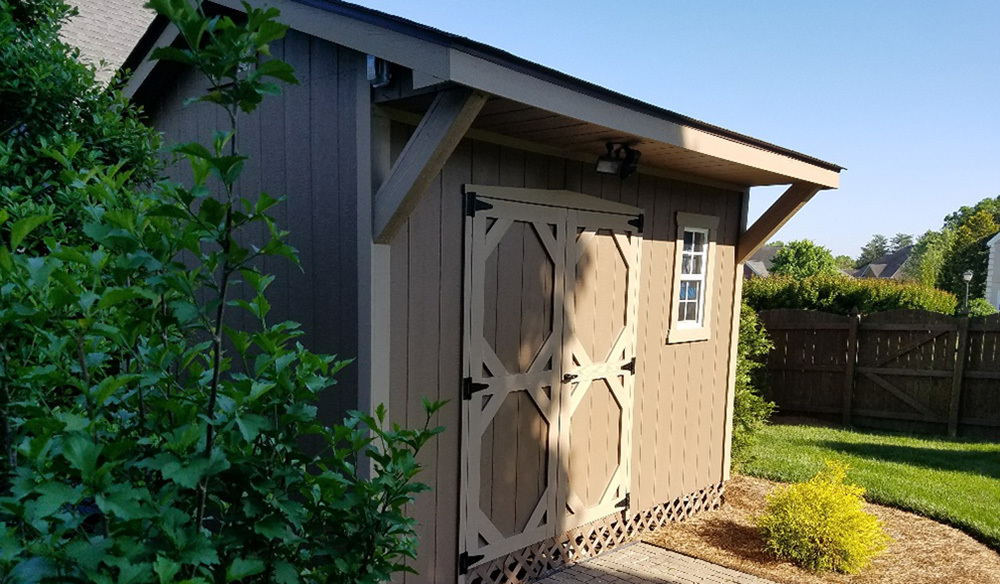 Ten by twelve cottage style shed