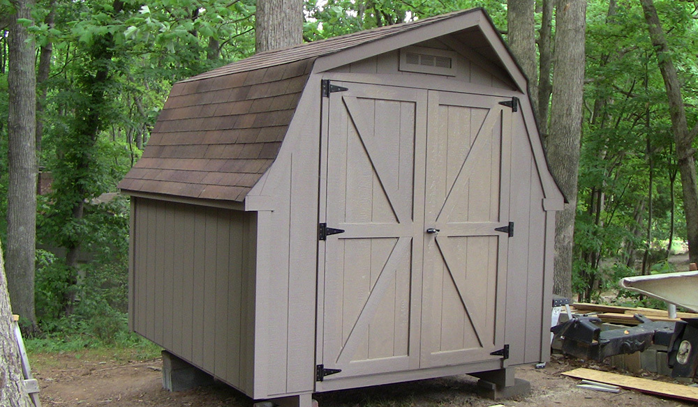 Dutch style shed eight by eight